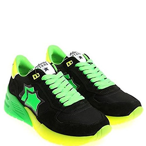 Stars Tessuto 42 Verde MARSNVSN04 Nero Sneakers Uomo Atlantic ZUdaa
