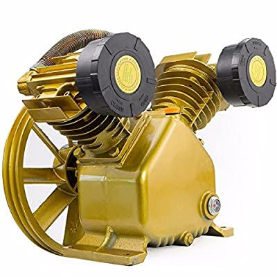 Eight24hours 17.5 CFM 145 PSI TWIN CYLINDER AIR COMPRESSOR V PUMP 5HP - 5.5HP ELECTRIC MOTOR