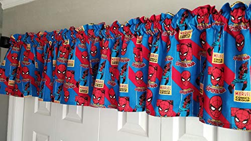 (Spider-Man Curtains, Marvel Comic Curtains, Short Curtains, Boy's Bedroom Curtains (40 Inches Wide x 15 Inches))