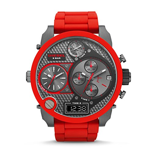 Watch Diesel Chronograph (Diesel Men's DZ7279 The Daddies Series Analog Display Analog Quartz Red Watch)