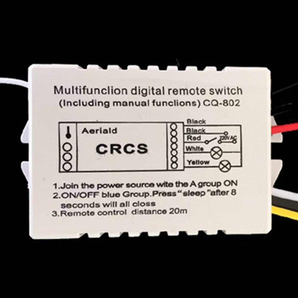 RoadRoma Control Remoto Multifuncional Inal/ámbrico Digital Light Control Remoto Interruptor Blanco