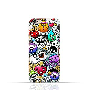 Iphone 5 / 5s TPU Silicone Case with Bizarre Characters Design