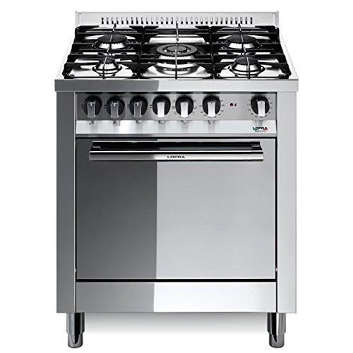 Lofra M76MF/C Cucina a Gas, Acciaio: Amazon.it: Grandi elettrodomestici
