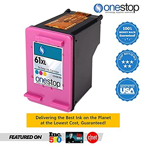 MX Brand HP 61XL Color Inkjet Premium High Yield Ink Cartridge for HP 61 & HP 61XL - CH563WN, CH564WN (Single (Hp Ink 61 Color And Black)