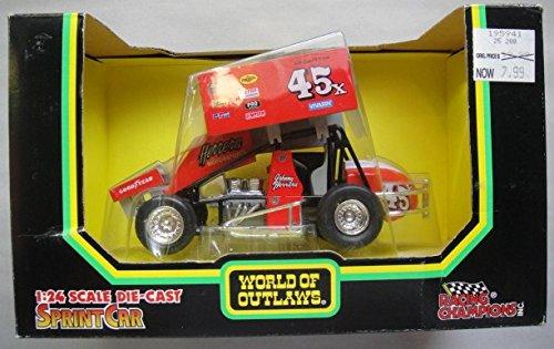 RACING CHAMPIONS WORLD OF OUTLAWS 1:24 SCALE DIE CAST SPRINT CAR HERRERA MOTORSPORT #45 JOHNNY HERRIRA GOOD - Diecast Car Sprint