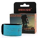 Higo Glow Bracelets - Rainproof LED Slap Bracelet, Sports Event Wristbands with Reflecive Printing& Color Box Package (Blue--Design Ⅲ)