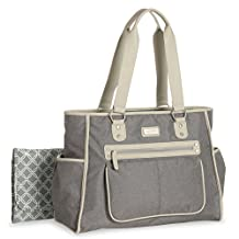Carter's City Tote Diaper Bag, Grey Textured