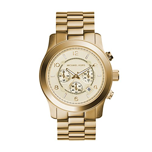 Michael Kors MK8077 Gold-Tone Men's Watch (Oversized Runway Watch)