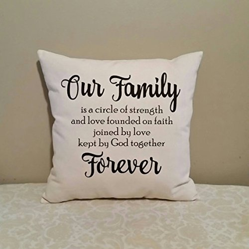 Family Pillow Cover | Family is Forever | Pillowcases with words | Gifts for families | Living Room Decor | Gifts for women | Family Room Decor | - Vouchers Tiffany Gift