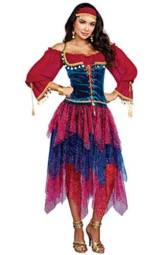 Dreamgirl Women's Gypsy, Multi, XL -