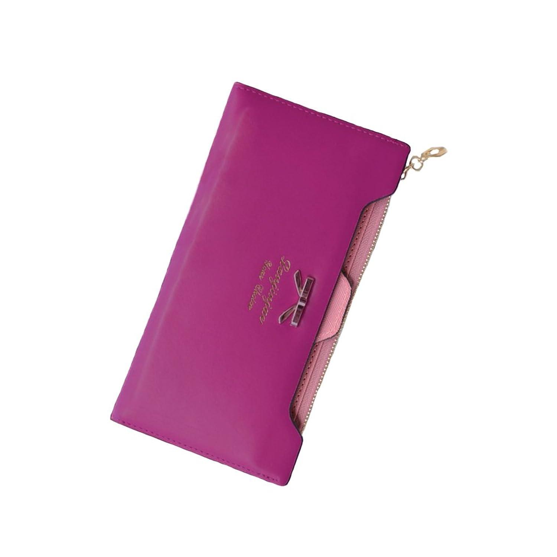 Anself Women Girl PU Leather Long Purse Coin Wallet Card Holder Clutch Handbag