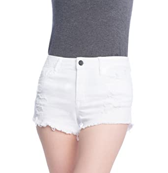 Clio Couture Women's High Waisted Denim Shorts at Amazon Women's ...