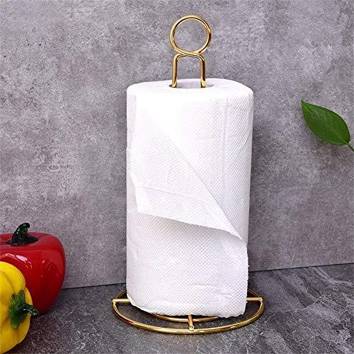 Dreamalv Golden Paper Towel Rack Cabinet Paper Towel Rack Roll Paper Holder Gold Paper Towel Rack High-Grade Wrought Iron Paper Holder Compatible (Grad Platz)