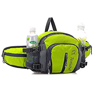 SINOGAL Fanny Pack Waist Bag with Water Bottle Holder Backpack Multifunctional Waterproof For Running Hiking Cycling Climbing Camping Traveling