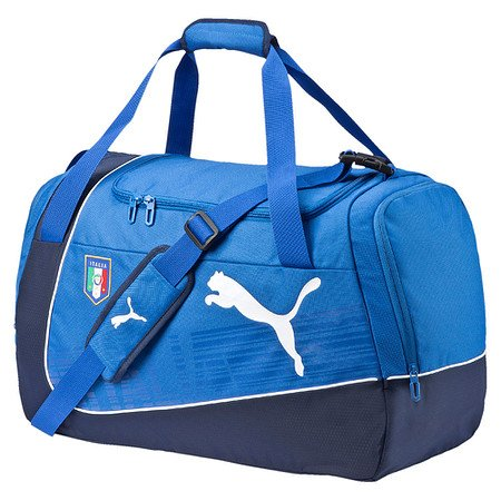 PUMA borsa sportiva Italia ultima Medium Bag, Team potenza Blue/Navy/White, 63 x 26 x 33 cm, 54 litri, 073897 01