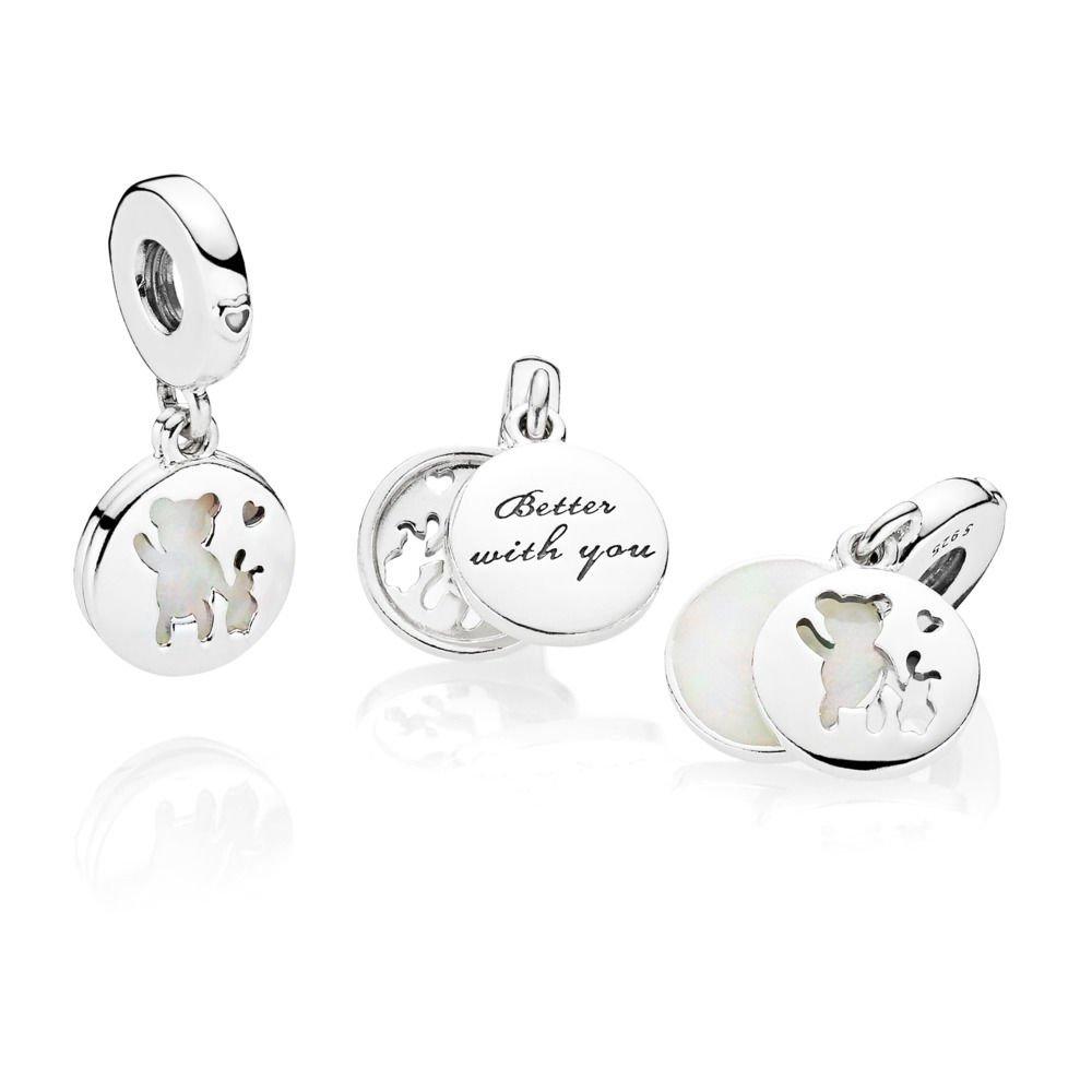c08221f0a Amazon.com: PANDORA Perfect Pals Charm, Silver Enamel, 797035EN23: Jewelry