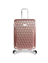 "BEBE Women's Stella 21"" Hardside Carry-on Spinner Luggage, Rose Gold"