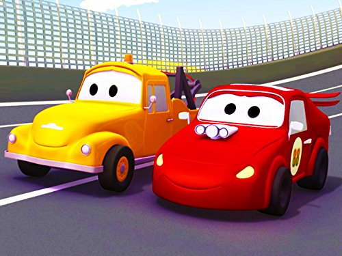 Tom the Tow Truck and Jerry the Red Racing Car