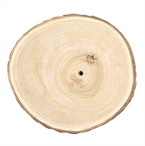 Large Round Paulownia Wood Slice - Set Of 6