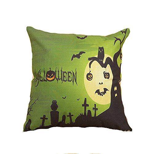 [Doremy Linen Soft Square Printing Throw Pillow Case/ Covers/ Protector Set/ Pillowcase With Hidden Zipper Halloween Decorative Cushion For Sofa, Bed, Chair, Auto Seat 7 Styles Options 18 x 18 Inch (6)] (Chair Costume Prank)