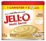 JELL-O Multi Serve Vanilla Instant Pudding and Pie Filling Mix, 18 Ounce (Pack of 6)