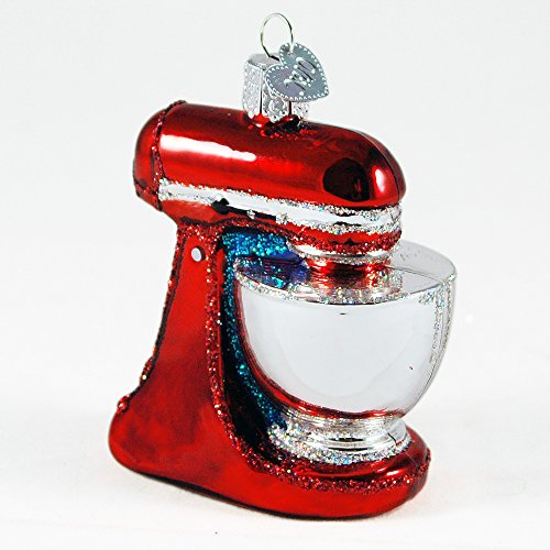 Old World Christmas Kitchen Stand Mixer Appliance Mouth Blown Glass Ornament