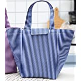Goodscene Small Lunch Bag New Oxford Cloth Aluminum Foil Zipper Lunch Bag(Purple)