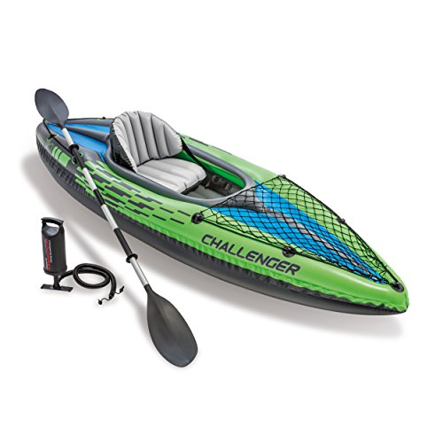 Intex Challenger K1 Kayak, 1-Person Inflatable Kayak, used for sale  Delivered anywhere in Canada