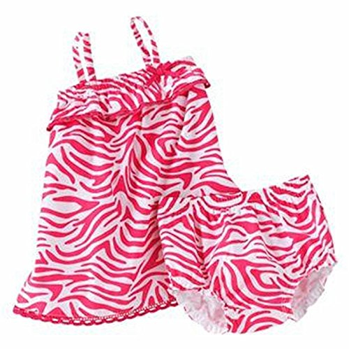 First Moments Baby Girls' Zebra Smocked Sundress and Bloomers 2 Piece Set (3 Months)