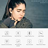 Bluetooth 5.0 Deep Bass True Wireless Headphones, Tranya Sports Wireless Earbuds, Sweat Proof Earphones Built-in Microphone Running, Gift Box
