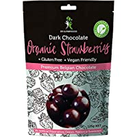 Dr Superfoods Dark Chocolate Coated Strawberry Delights, 125 g