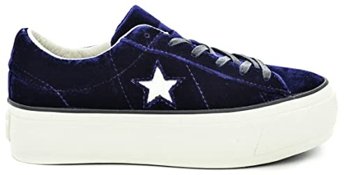 CONVERSE 558952C ONE STAR PLATFORM OX ECLIPSE BLUE
