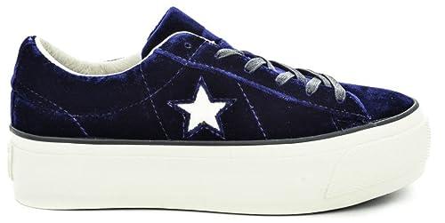 Converse Mujer Zapatillas de Gimnasia Azul Size: 40