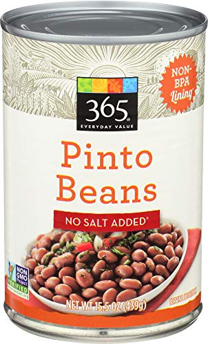 365 Everyday Value, Pinto Beans No Salt Added, 15.5 oz