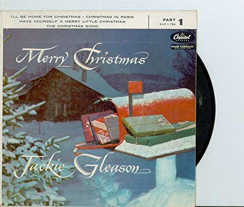 Extended Play Record (EP) ft 4 songs: I'll Be Home for Christmas / | Christmas in Paris / Have Yourself a Merry Little Christmas / The Christmas Song - Jackie Gleason - Merry Christmas Part 1 (Capitol Records 1956) Near-Mint (7 out of 10) - Vintage 45 RPM Vinyl Record
