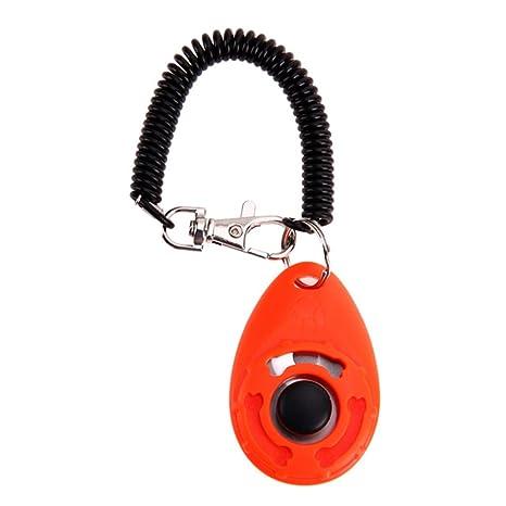 WARMTOWE - 1 Unidad de clicker para Perro, Gato o Cachorro con Pulsera en Espiral