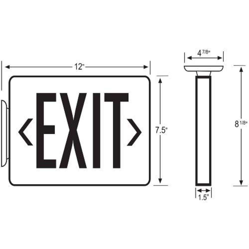 Easy Mount LED Exit Sign Emergency Light Lighting Emergency LED Light/Battery Back-up/Double Face/Black Housing/UL Certified (Red Letters) by LEDQuant (Image #2)