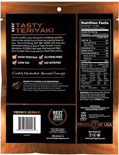 Perky Jerky Gluten Free Beef Jerky Variety Pack, 4 Count