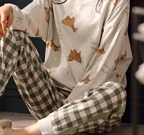 Manga Servicio Y Otoño Xl Casual Domicilio Primavera Baujuxing Larga De Algodón M Pijamas Mujer Traje Cálido Deportivo A Camisón qBqzHwt0