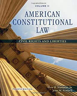 amazon com american constitutional law volume ii civil  2 american constitutional law volume ii civil rights and liberties