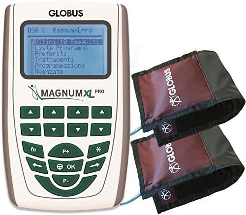 Magnum XL – Pro con 2 solenoides flexibles Globus Magnetoterapia 2 canales – 500 Gauss de pico total