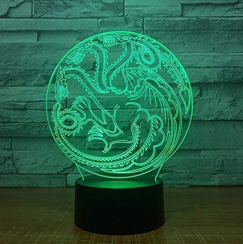 Lámpara de dragón de Juego de Tronos