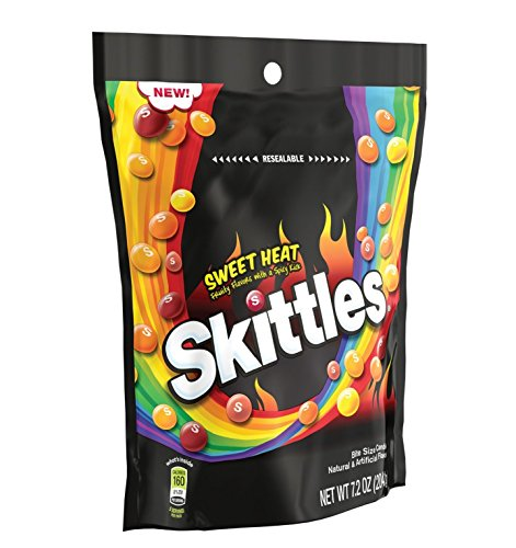 Skittles Sweet Heat Bite Size Candy 7.2 oz - Hot Sweet Chocolate