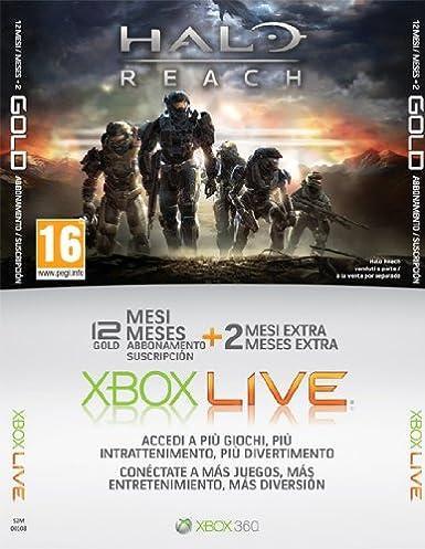 Tarjeta de 12 meses + 2 Halo Reach: Amazon.es: Videojuegos