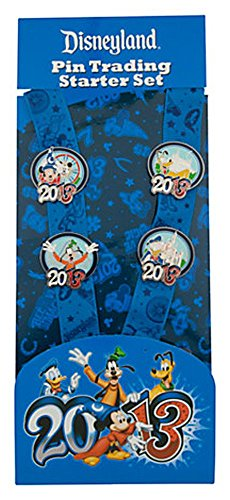 Disneyland 2013 Pin Trading Starter Set with Lanyard