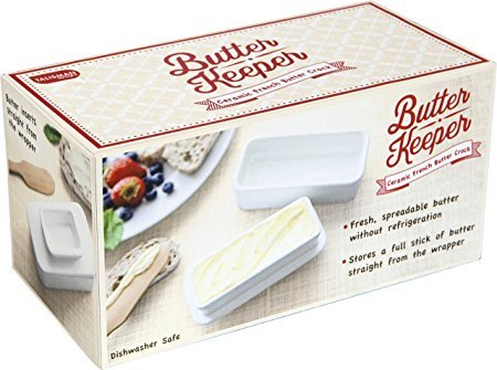 Talisman Designs ceramic Butter Keeper, White ()