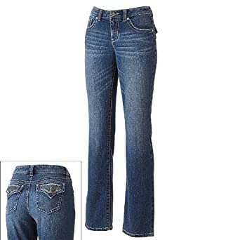 Apt. 9 Curvy Slight Bootcut Jeans - Women's at Amazon Women's ...
