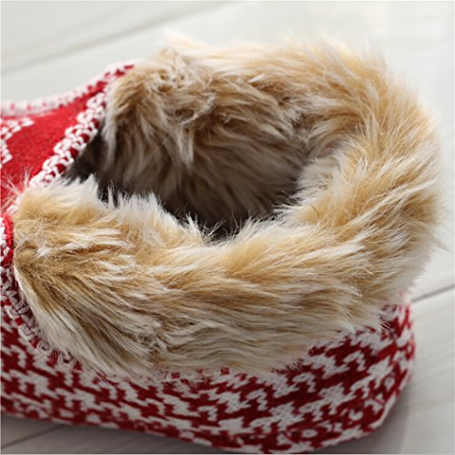 Women Printed Snowflake Zoylink S Slippers Cotton Slippers Winter Warm for Slippers Christmas pAvBq