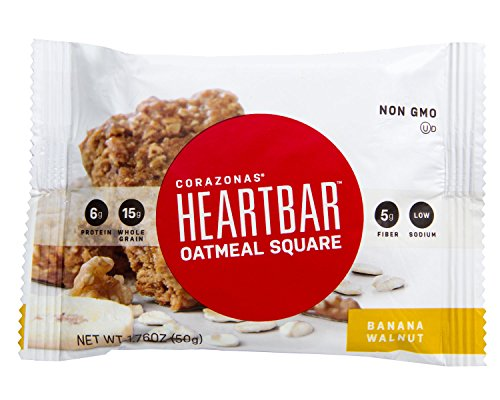 Heartbar Oatmeal Square Banana Walnut 176 Ounce 12 Count