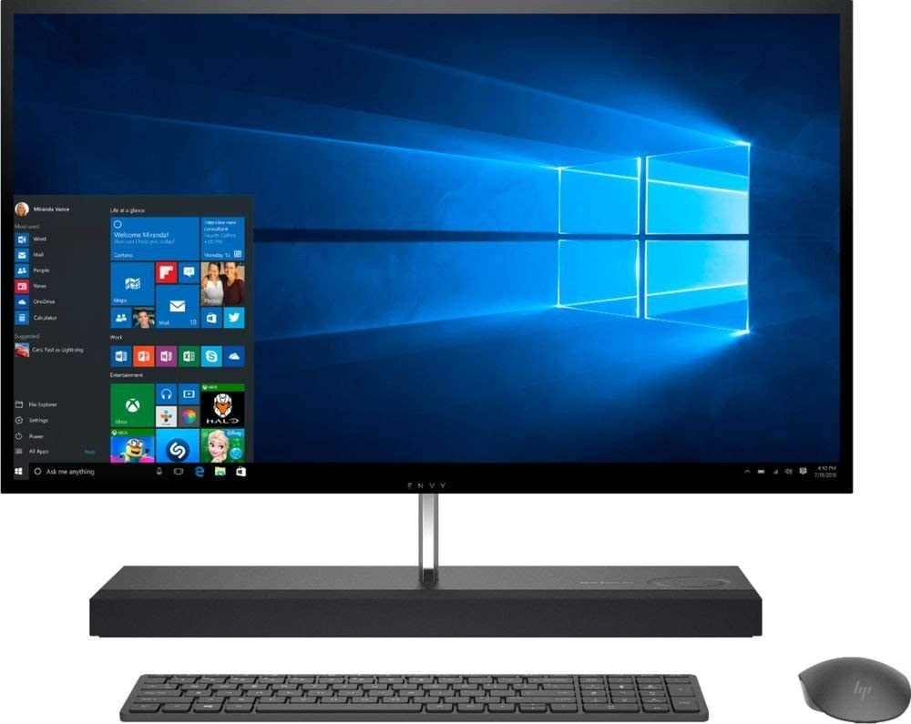 HP ENVY 27-B214 AIO - 27inWQHD Touch - i7-8700T - GTX 1050-16GB - 2TB HDD+256GB SSD (Renewed)